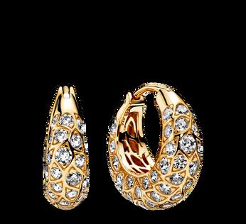 Pandora Shine Sparkling Pattern Hoop Earrings