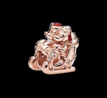 Pandora Rose Disney Minnie and Mickey Christmas Charm