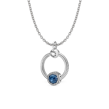 Moonlight Blue O Pendant Necklace
