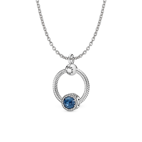 Moonlight Blue O Pendant Necklace