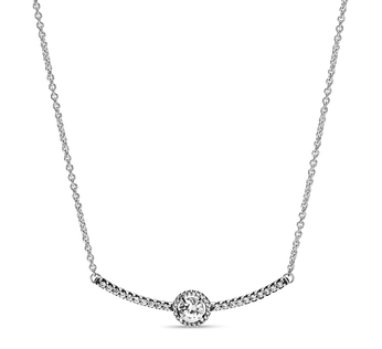 Round Sparkle Bar Necklace
