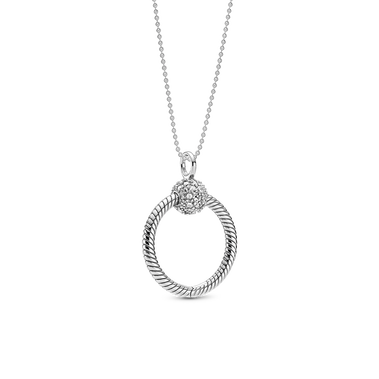 Small Pavé O Pendant Set