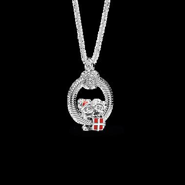Disney Mickey and Minnie O Pendant Set