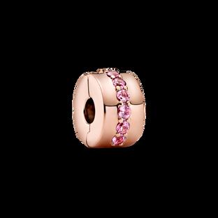 Pink Sparkling Row Clip