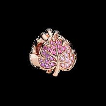 Pandora Rose Sparkling Pavé Leaf Charm