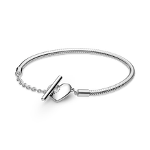 Pandora Moments Heart T-Bar Snake Chain Bracelet