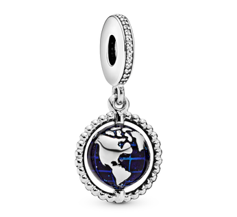 Spinning Globe Hanging Charm