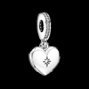 Openable Heart Locket Dangle Charm