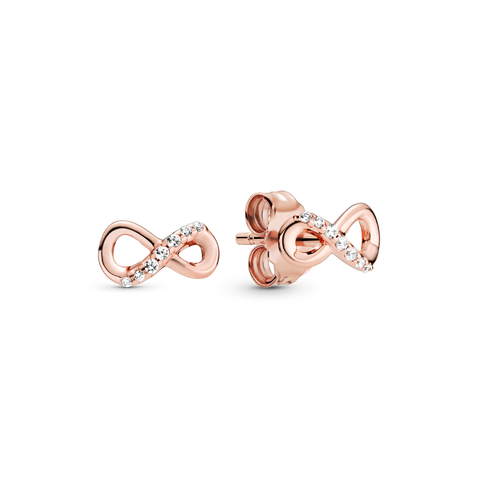 Sparkling Infinity Stud Earrings