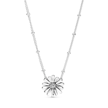 Pavé Daisy Flower Collier Necklace
