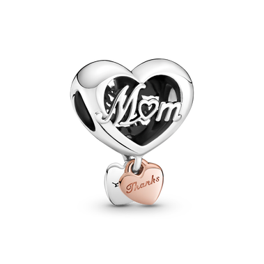 Thank You Mum Heart Charm