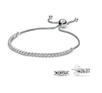 Sparkling Strand Bracelet and Earring Gift Set