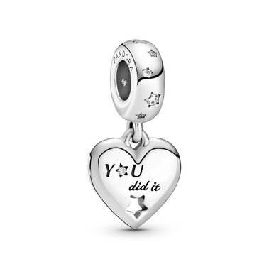 Congratulations Heart & Stars Dangle Charm