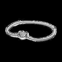 Disney Pandora Moments Mickey Mouse Heart Clasp Snake Chain Bracelet