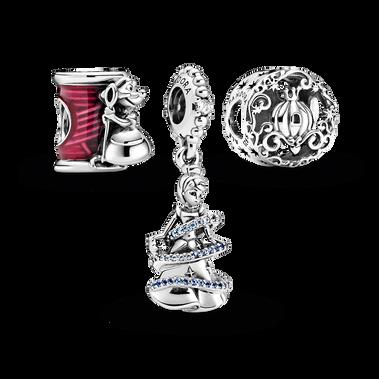 Disney Cinderella Charms Trio Silver Gift Set