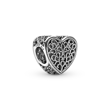 Filigree & Beaded Heart Charm