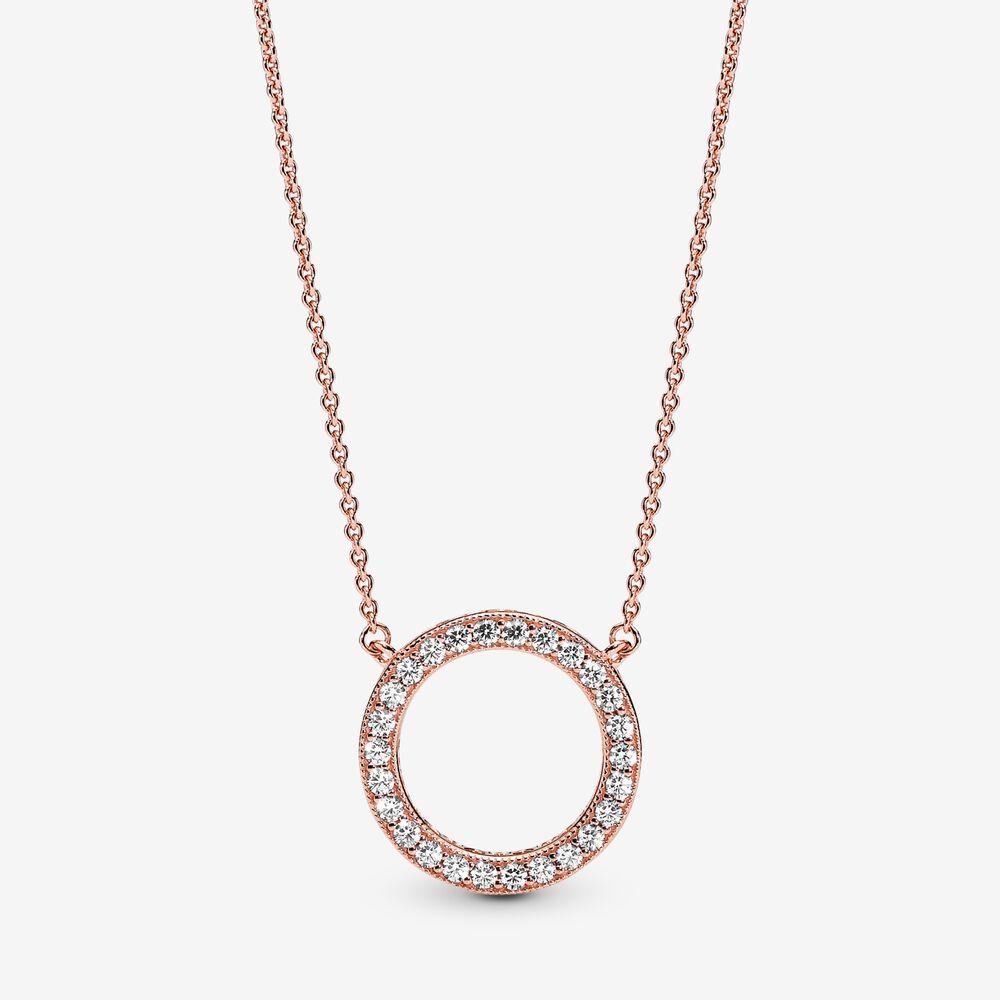 PANDORA Rose Hearts of PANDORA Necklace Collier | PANDORA e-STORE ...