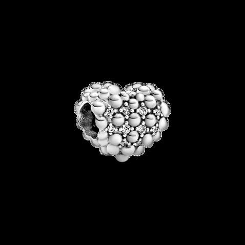 Beaded Sparkling Heart Charm
