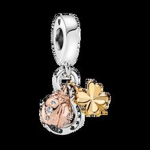 Horseshoe, Clover & Ladybird Hanging Charm