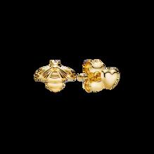 Bee & Heart Stud Earrings