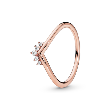 Pandora Rose Tiara Wishbone Ring