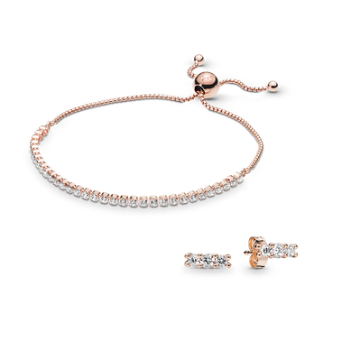 Pandora Rose Sparkling Elegance Bracelet & Earring Gift Set