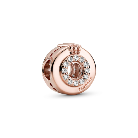 Open Centre Pavé Crown O Charm