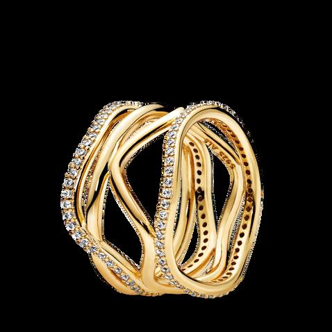 Pandora Shine Swirling Lines Ring