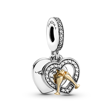 Two-Tone Happy Anniversary Dangle Charm