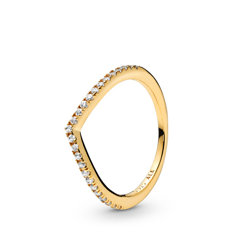Pandora Shine Sparkling Wishbone Ring