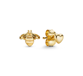 Bee & Heart Stud Earrings