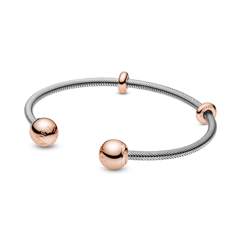 Pandora Rose Snake Chain Style Open Bangle
