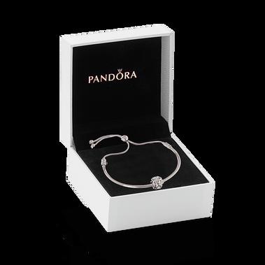 Infinity Silver Bracelet & Charm Gift Set