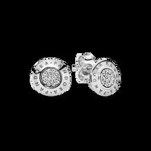 Sparkling Pandora Logo Stud Earrings