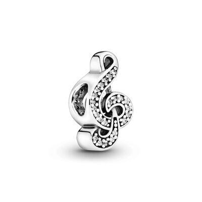 Sweet Music Note Zirconia & Silver - PANDORA