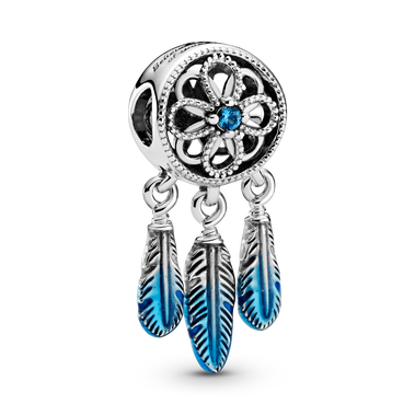 Blue Dreamcatcher Charm