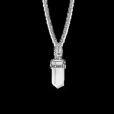 White Amulet Necklace Set