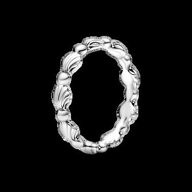 Beaded Seashell Band Ring