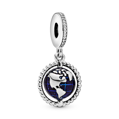 Spinning Globe Dangle Charm
