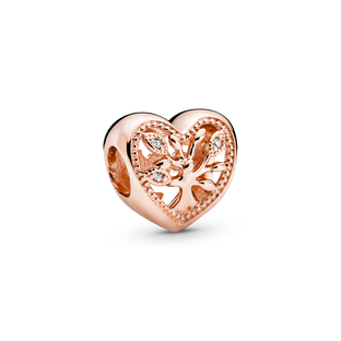 Openwork Family Tree Heart Charm