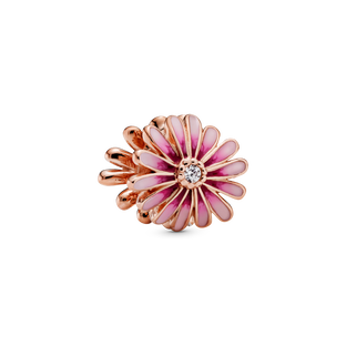 Pink Daisy Flower Charm