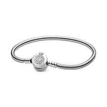 Pandora Moments Sparkling Crown O Snake Chain Bracelet