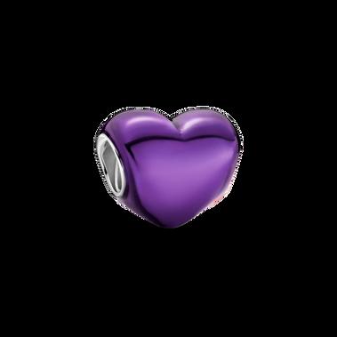 Metallic Purple Heart Charm