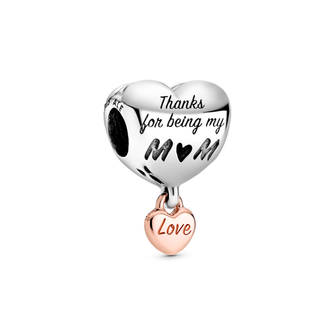Love You Mum Heart Charm