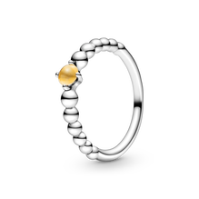 November Honey Coloured Ring with Man-Made Honey Coloured Crystal