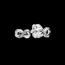 Sparkling Infinity Stud Earrings