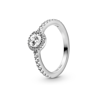Classic Sparkling Halo Ring