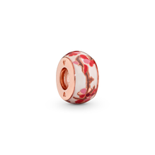 Pink Peach Blossom Flower Spacer Charm