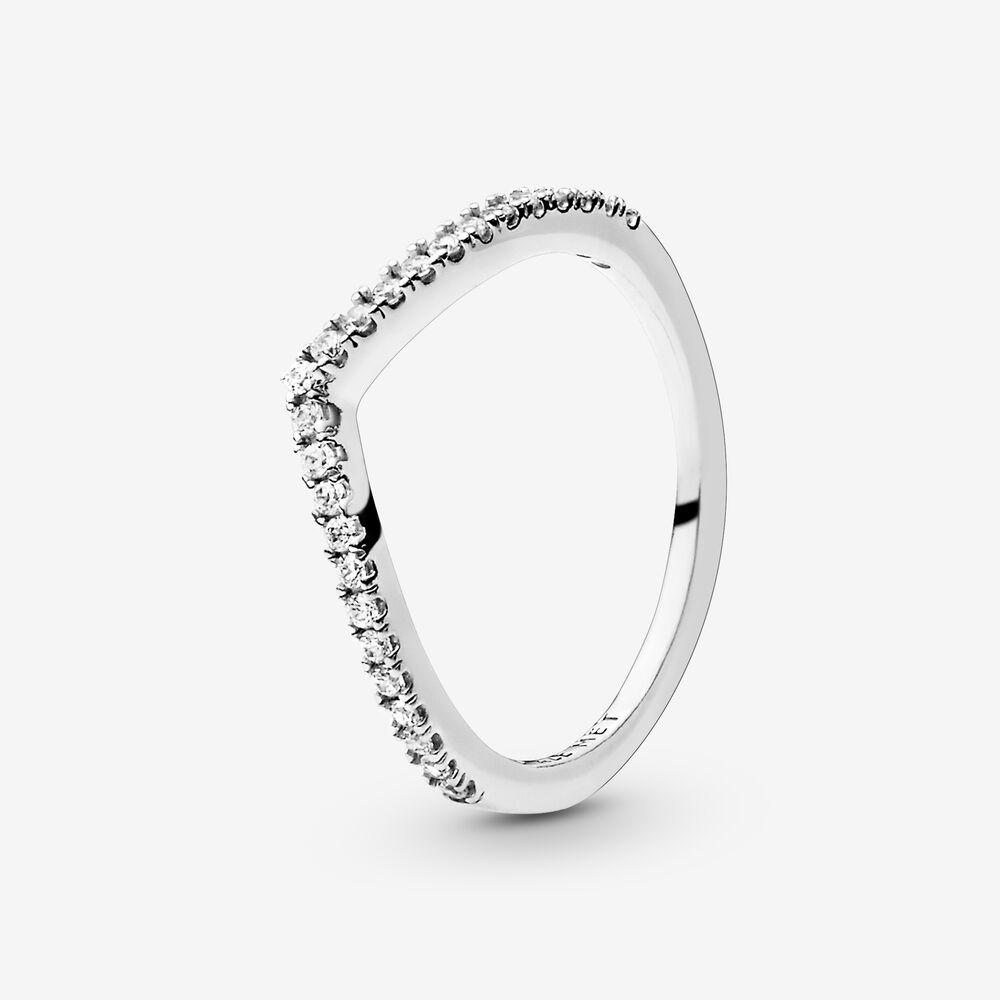 Sparkling Wishbone Ring Pandora Nz