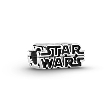 Star Wars Silver 3D Logo Charm